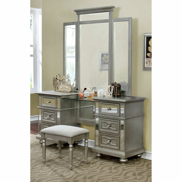 Jacey Vanity with Mirror by Rosdorf Park Rosdorf Park