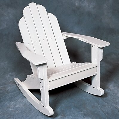 Classic Plastic Rocking Adirondack Chair by Seaside Casual