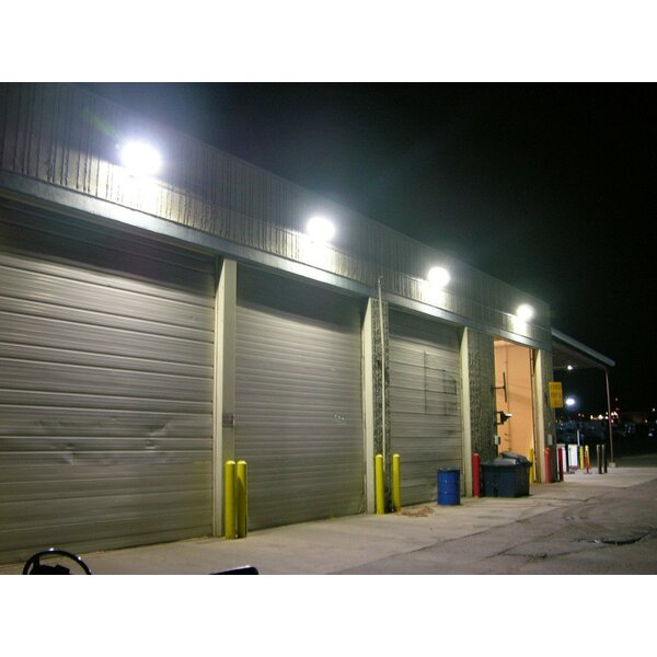 80W Outdoor 1-Light LED Wall Pack by LEONLITE