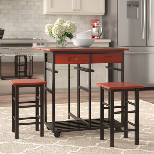 #1 Middlebrook Kitchen Island Set (Set Of 3) By Winston Porter Herry Up