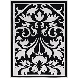 Damask Rug Black And White Wayfair