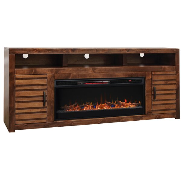 Belle Isle 78 TV Stand Electric Fireplace by Loon Peak