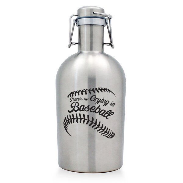 No Crying in Baseball Stainless Steel Growler by Susquehanna Glass
