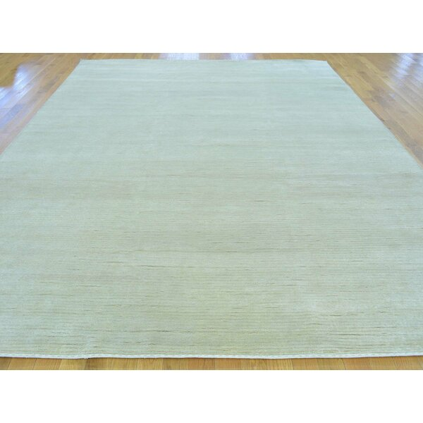 One-of-a-Kind Beverly Beverly Hand-Knotted Beige Wool/Silk Area Rug by Isabelline