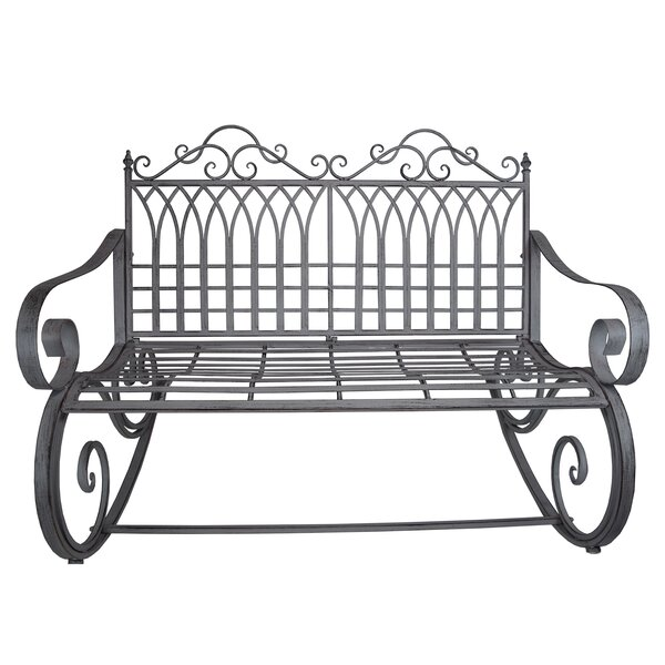 Cassiopeia Ornate Traditional Outdoor Garden Rocking Bench by Fleur De Lis Living
