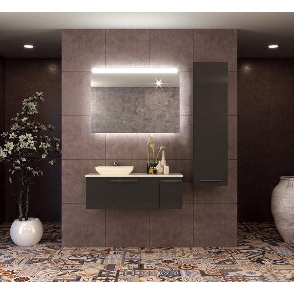 Isabella 48 Wall-Mounted Single Bathroom Vanity Set with Mirror by Orren Ellis