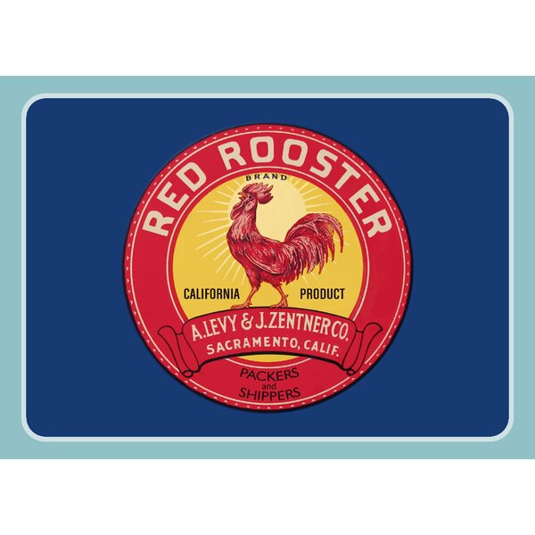 Molimo Rooster Label Kitchen Mat