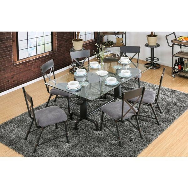 Marrero Industrial 7 Piece Dining Set by Williston Forge