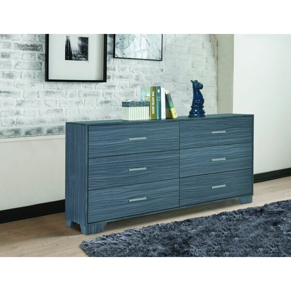 Bronstein 6 Drawer Double Dresser By Red Barrel Studio by Red Barrel Studio Cool
