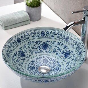 Best Reviews Cadence Glass Circular Vessel Bathroom Sink By ANZZI