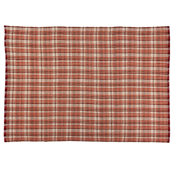 Behr Plaid Burgundy Indoor/Outdoor Area Rug by August Grove