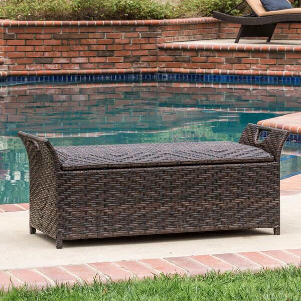 Quinto Wing Wicker Storage Bench By Wrought Studio by Wrought Studio Great price