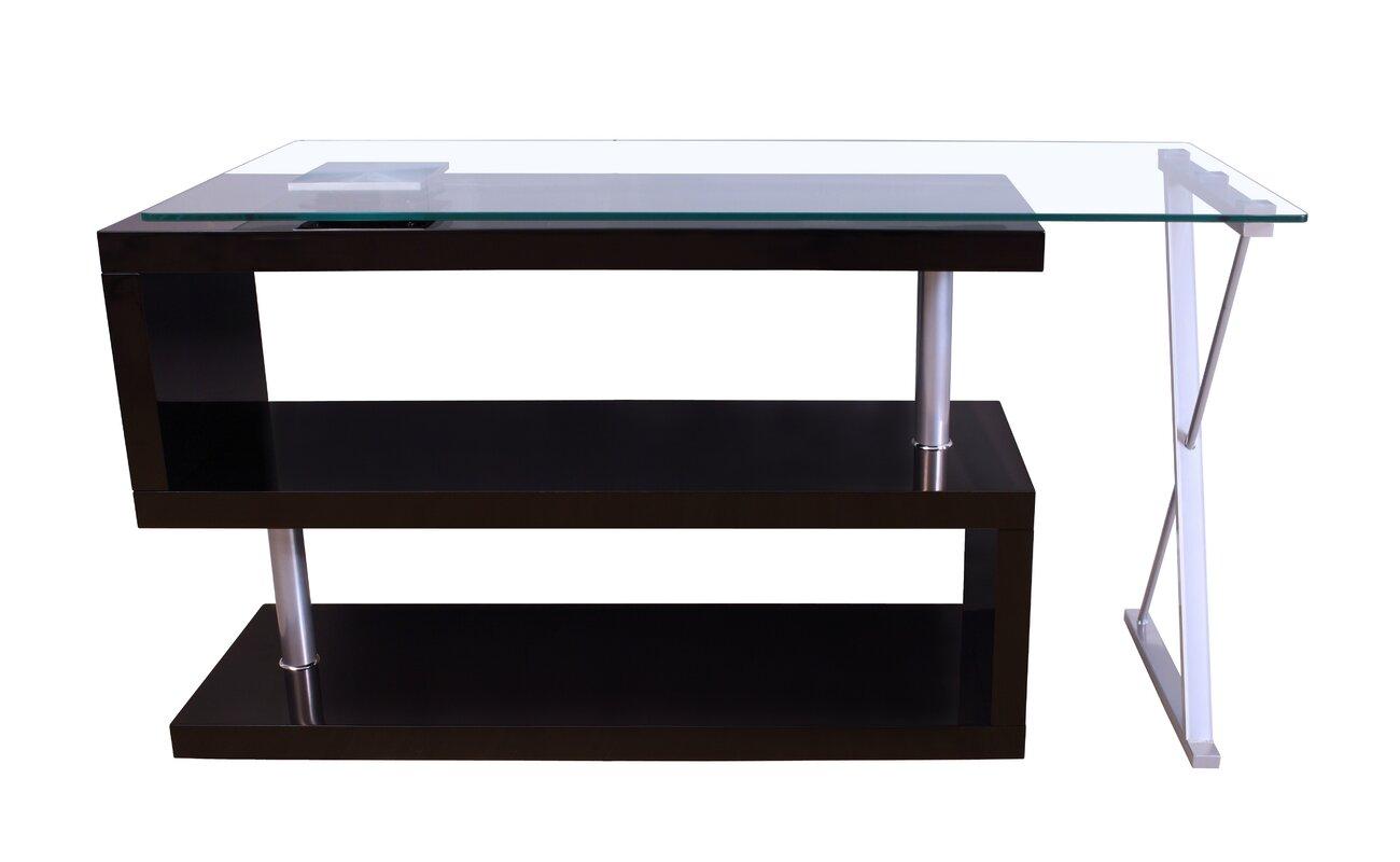Buck High Gloss Convertible S Shape Writing Desk
