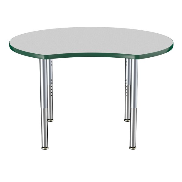 Crescent Thermo-Fused Adjustable 48Circular Activity Table by ECR4kids