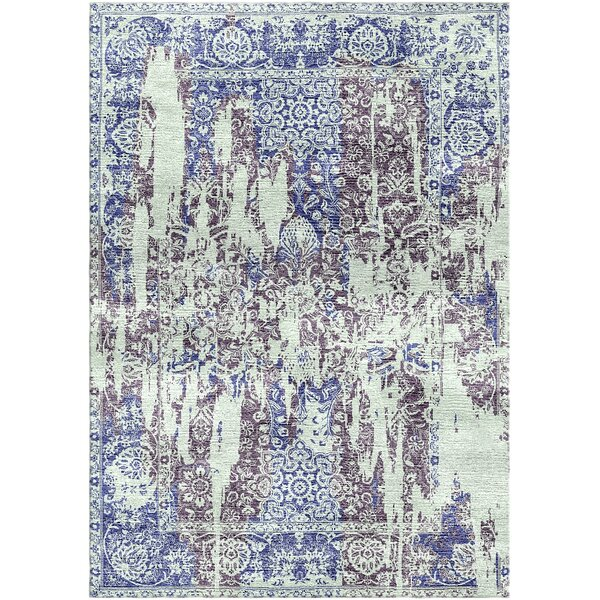 Aliza Handloom Blue/Gray Area Rug by Bungalow Rose