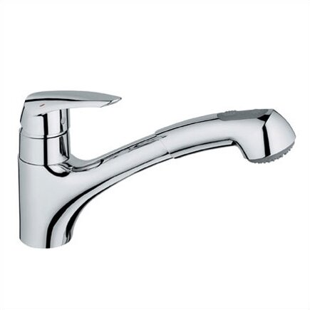 Eurodisc Standard Single Handle Kitchen Faucet with SilkMove® by Grohe