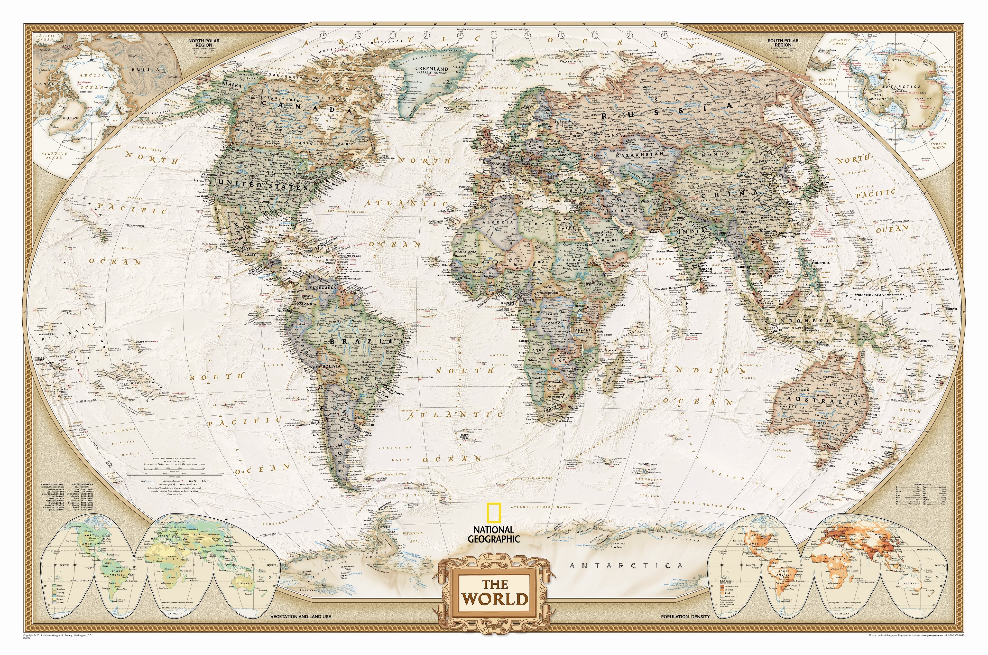 MIDDLE EAST /& ASIA MAP ~ 24x36 GEOGRAPHY POSTER NEW//ROLLED!