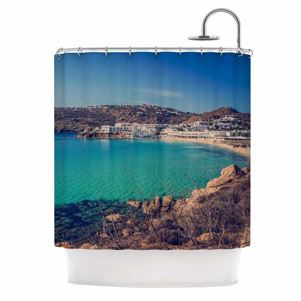 Mykonos Bay by Violet Hudson Shower Curtain by East Urban Home