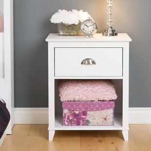 Pembrooke 1 Drawer Wood Nightstand by Beachcrest Home