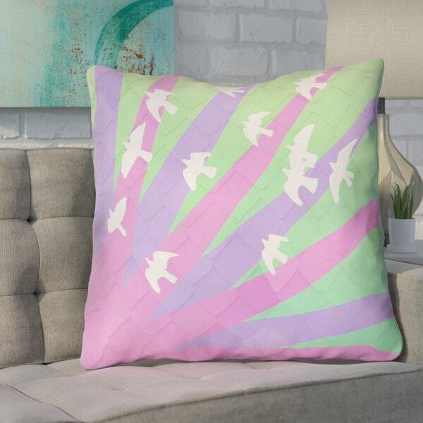 Enciso Birds and Sun Square Euro Pillow by Brayden Studio