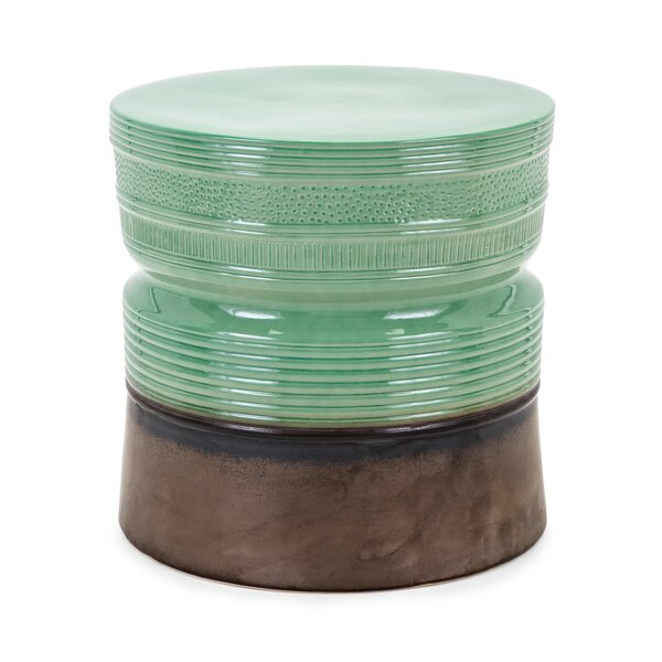 Steen Ceramic Garden Stool by Bay Isle Home