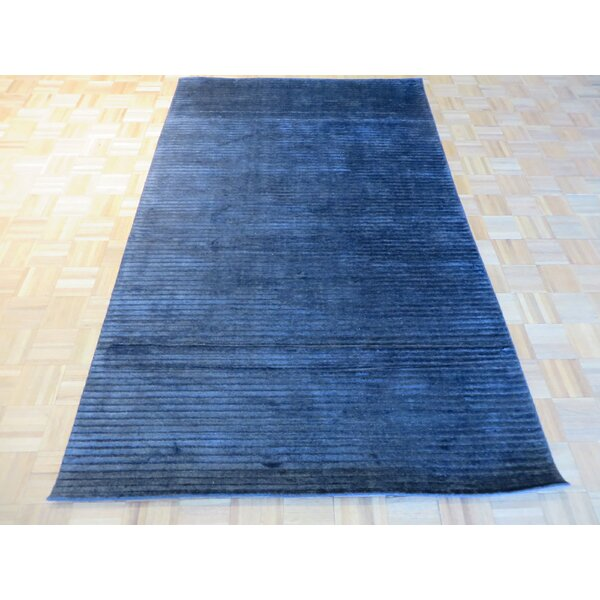 One-of-a-Kind Elbridge Hand-Knotted Wool Black Area Rug by Red Barrel Studio