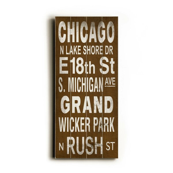 Chicago Textual Art by Artehouse LLC