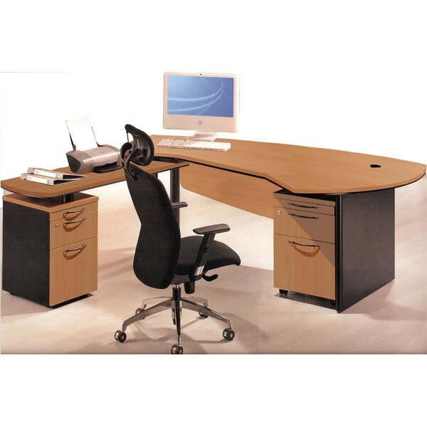Executive Management 5 Piece L-Shaped Desk Office Suite by OfisELITE