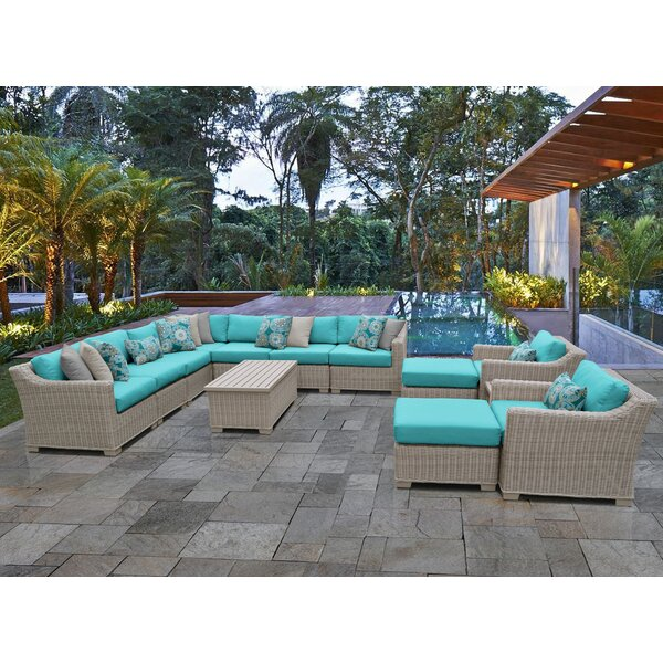 Claire 13 Piece Sectional Seating Group with Cushions
