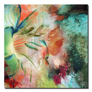 'Painted Petals LIX' Graphic Art on Canvas by Ebern Designs