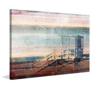 'Beach Safety' by Parvez Taj Painting Print on Wrapped Canvas by Parvez Taj