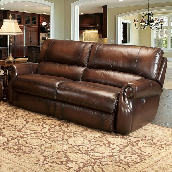 Buy Online Hardcastle Leather Reclining Sofa by Darby Home Co by Darby Home Co