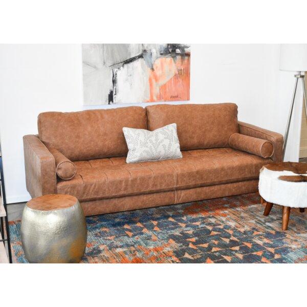 Warner Vintage Leather Sofa by Modern Rustic Interiors