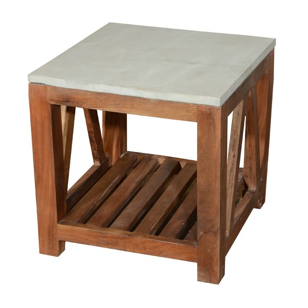 Concrete Top End Table by Home and Garden Direct