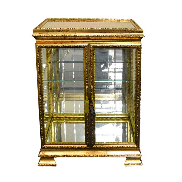 Sebastiao Leaf Painted Double Door Currio Cabinet by Astoria Grand