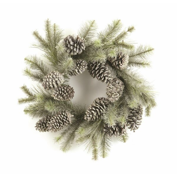 Vintage Glitter Pine Wreath by Loon Peak