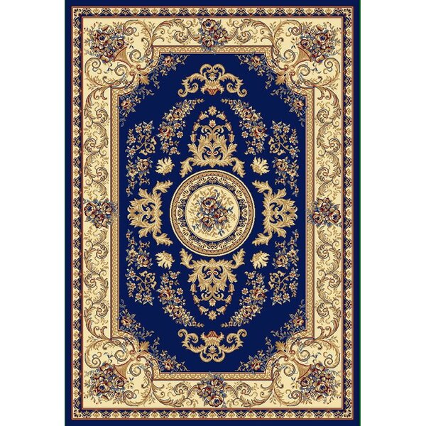 Skiles Dark Blue Area Rug by Ebern Designs