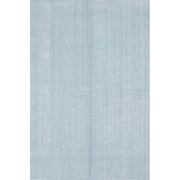 One-of-a-Kind Don Hand-Knotted Light Blue Area Rug by Latitude Run