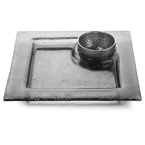 Notturno Square Chip and Dip Platter by Arte Italica