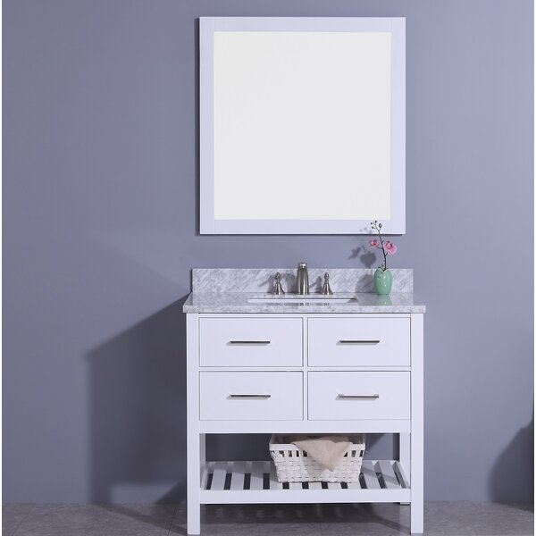 Alton 37 Single Bathroom Vanity Set with Mirror by Breakwater Bay