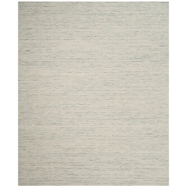 Chanelle Hand-Woven Wool Light Blue Area Rug by Bungalow Rose