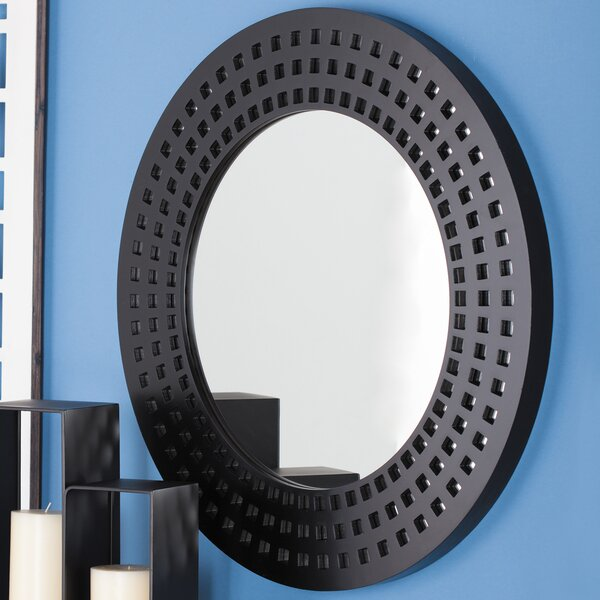Round Lacquered Wall Mirror by Urban Designs