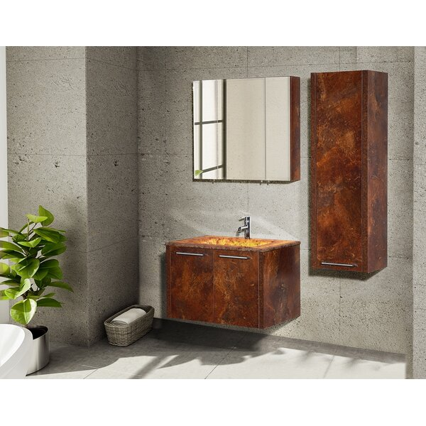 Wharton 17.72 W x 49.21 H Wall Mounted Cabinet by Orren Ellis