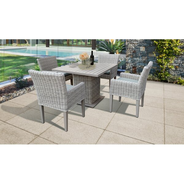 Michaela Square 5 Piece Dining Set with Cushions by Rosecliff Heights