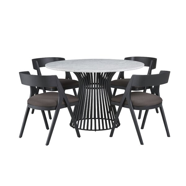 Dungannon 5 Piece Dining Set by Brayden Studio