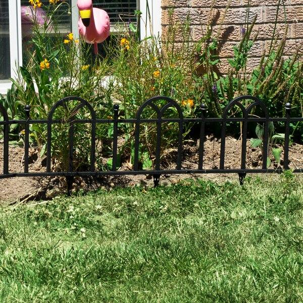 16 in. H x 2 ft. W Victorian Garden Edging (Set of 4) by Pure Garden