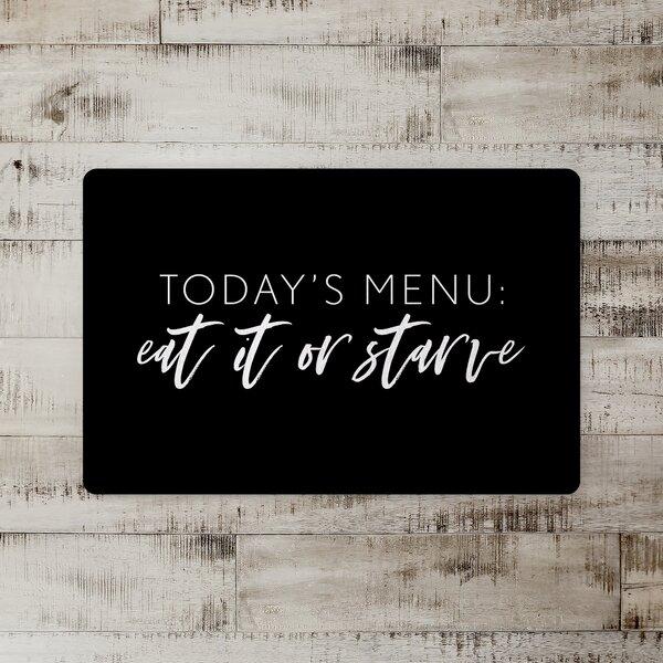 Bourne Today's Menu Kitchen Mat