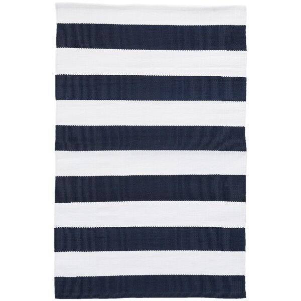 Catamaran Navy Indoor/Outdoor Area Rug by Dash and Albert Rugs