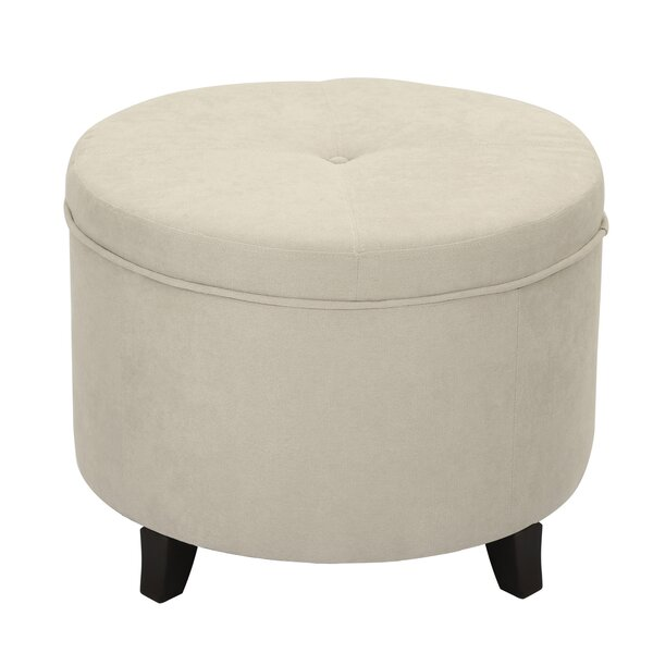 Veal Round Tufted Storage Ottoman by Winston Porter