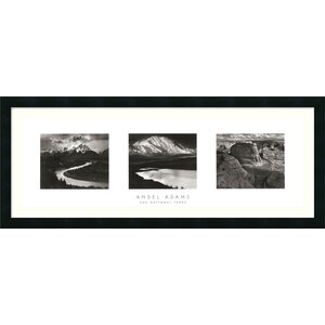 'Our National Parks (Triptych)' by Ansel Adams Framed Photographic Print by Amanti Art
